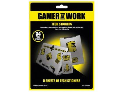 SAMOLEPKY NA ELEKTRONIKU|GAMING  GAMER AT WORK|5 LISTŮ|34 KUSŮ
