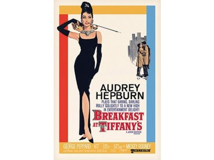 PLAKÁT 61 x 91,5 cm|AUDREY HEPBURN  BREAKFAST AT TIFFANY'S