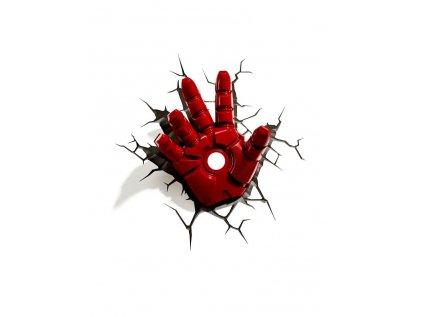 LAMPA DEKORATIVNÍ NA ZEĎ|MARVEL  3D|IRON MAN|HAND|3 x AA