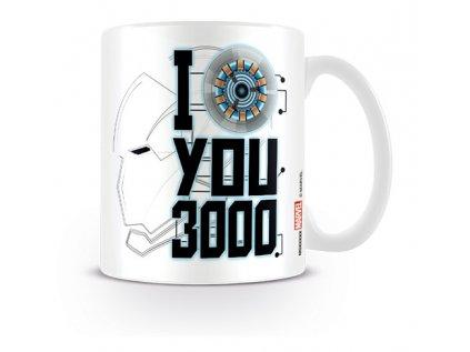 HRNEK KERAMICKÝ|MARVEL|AVENGERS  315 ml|ENDGAME|I LOVE YOU 3000