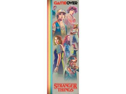 PLAKÁT 53 x 158 cm|STRANGER THINGS  GAME OVER