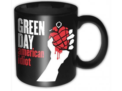 HRNEK VELKÝ KERAMICKÝ|GREEN DAY  900 ml|AMERICAN IDIOT|ČERNÝ