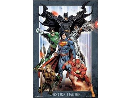 PLAKÁT 61 x 91,5 cm DC COMICS  JUSTICE LEAGUE GROUP