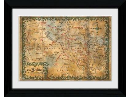 PLAKÁT V RÁMU 30 x 40 cm  THE HOBBIT|MAP