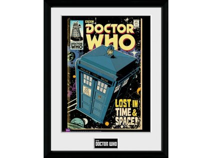 PLAKÁT V RÁMU 30 x 40 cm  DOCTOR WHO|TARDIS COMIC