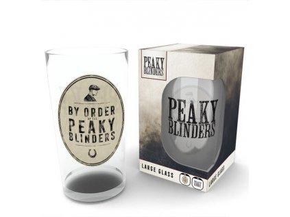 SKLENICE SKLO ČIRÉ|PEAKY BLINDERS  500 ml|BY ORDER OF