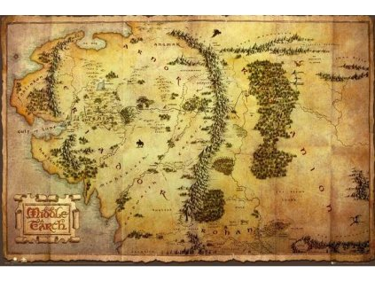 PLAKÁT 61 x 91,5 cm  THE HOBIT|MAP