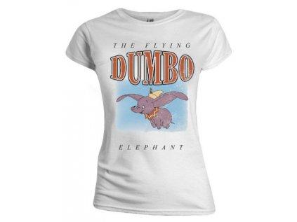 TRIČKO DÁMSKÉ/DISNEY/DUMBO  THE FLYING ELEPHANT/BÍLÉ