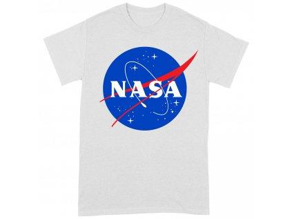 TRIČKO PÁNSKÉ|NASA  INSIGNIA LOGO|BÍLÉ