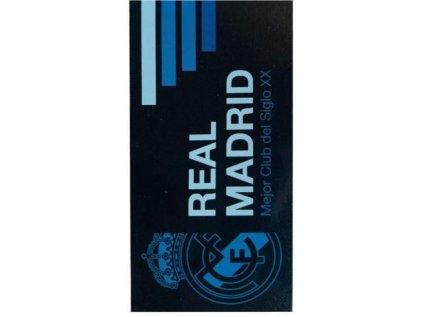 RUČNÍK OSUŠKA|REAL MADRID FC  LOGO|70 x 140 cm|ČERNÝ