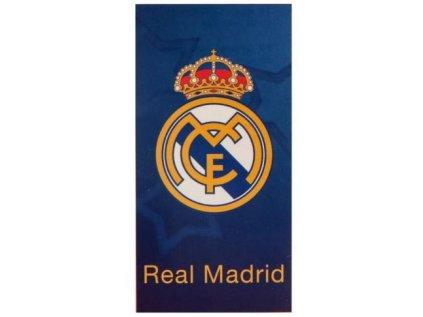 RUČNÍK OSUŠKA|REAL MADRID FC  LOGO|70 x 140 cm|MODRÝ