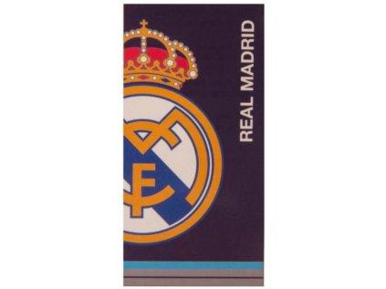 RUČNÍK OSUŠKA|REAL MADRID FC  LOGO|70 x 140 cm|MODRÁ
