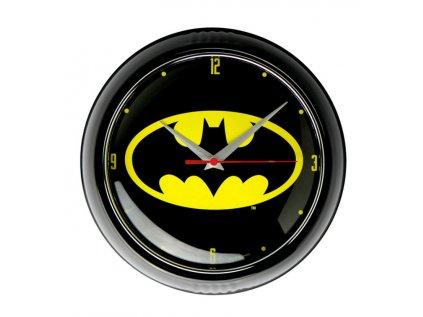 HODINY NÁSTĚNNÉ|DC COMICS|BATMAN  BATMAN LOGO|PRŮMĚR 24 cm