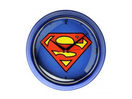 HODINY NÁSTĚNNÉ|DC COMICS|SUPERMAN  SUPERMAN LOGO|PRŮMĚR 24 cm
