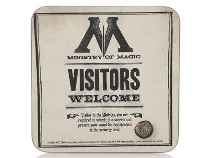 TÁCKY POD SKLENICE BALENÍ 6 KUSŮ  HARRY POTTER MINISTRY OF MAGIC