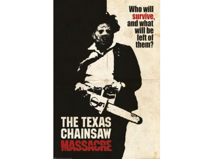 PLAKÁT 61 x 91,5 cm|TEXAS CHAINSAW  MASSACRE|WHO WILL SURVIVE?