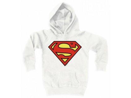 MIKINA DĚTSKÁ S KAPUCÍ|DC COMICS  SUPERMAN|BÍLÁ