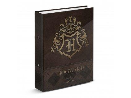 KROUŽKOVÝ POŘADAČ A4|HARRY POTTER  GOLD HOGWARTS CREST|28 x 33 x 5 cm