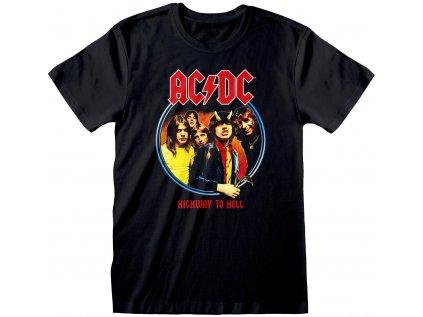 TRIČKO PÁNSKÉ AC/DC  HIGHWAY TO HELL ČERNÉ