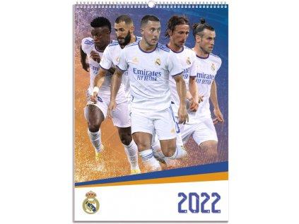 KALENDÁŘ 2022|FOTBAL  FC REAL MADRID (29,7 x 42 cm) A3
