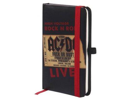 BLOK|ZÁPISNÍK A6|AC/DC  ROCK OR BUST|10,5 x 14,8 cm
