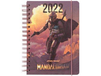 DIÁŘ 2022 A5 THE MANDALORIAN  THE CHILD TÝDENNÍ KROUŽKOVÁ VAZBA