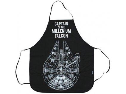 KUCHYŇSKÁ ZÁSTĚRA|STAR WARS  MILLENNIUM FALCON|BAVLNA|70 x 80 cm