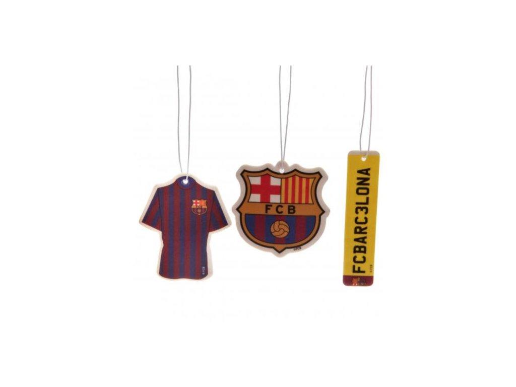 OSVĚŽOVAČ VZDUCHU|BARCELONA FC  VŮNĚ DO AUTA|SET 3 KUSY