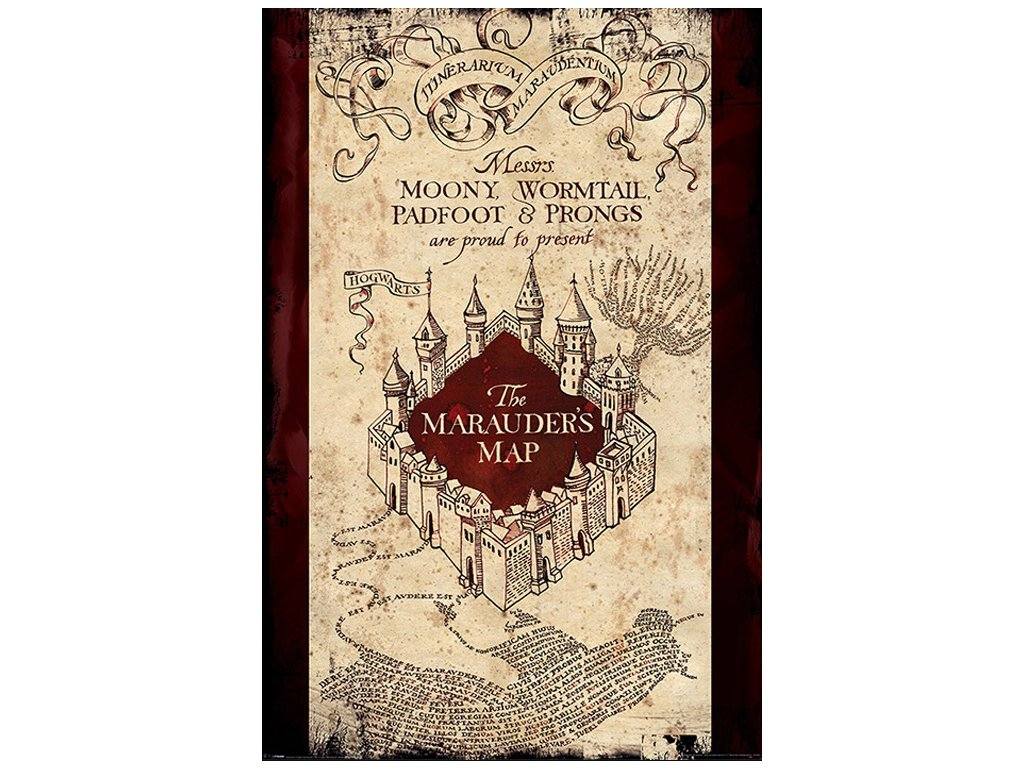 PLAKÁT 61 x 91,5 cm|HARRY POTTER  MARAUDERS MAP