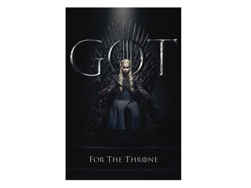 PLAKÁT 61 x 91,5 cm|GAME OF THRONES  DAENERYS FOR THE THRONE