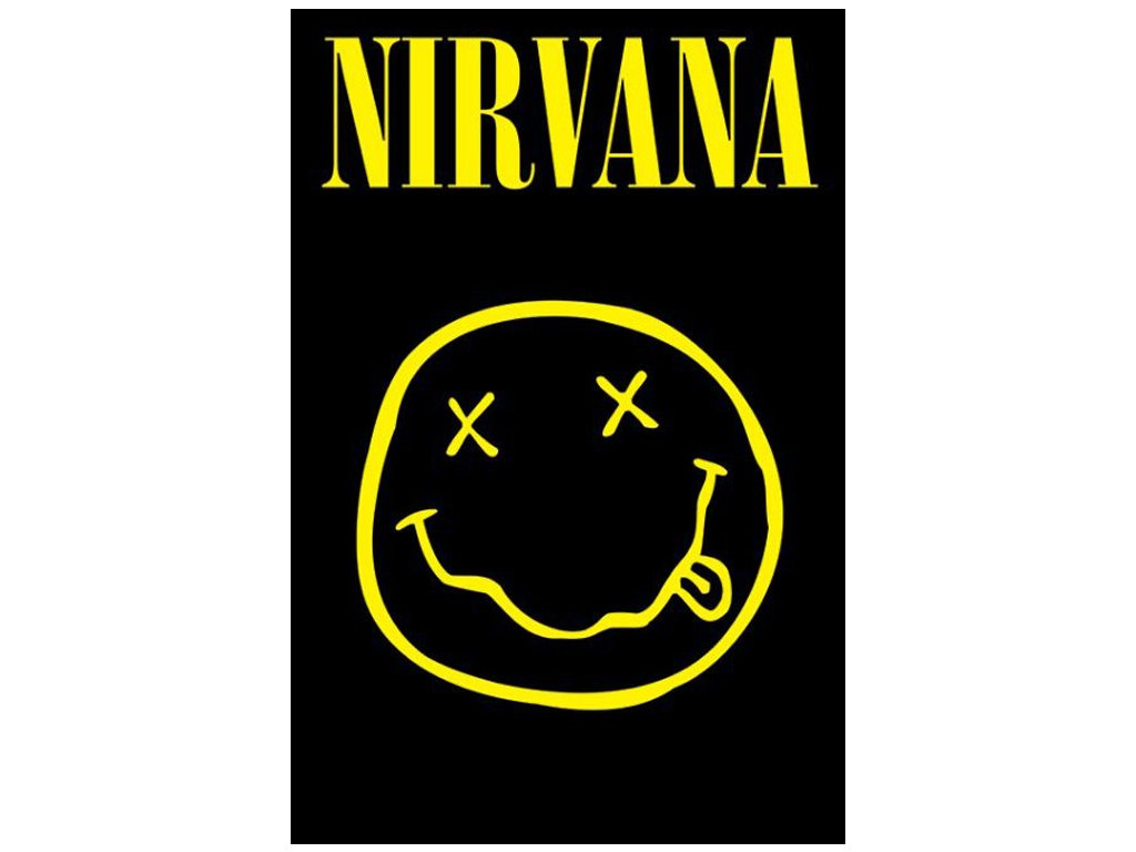 PLAKÁT 61 x 91,5 cm|NIRVANA  SMILEY