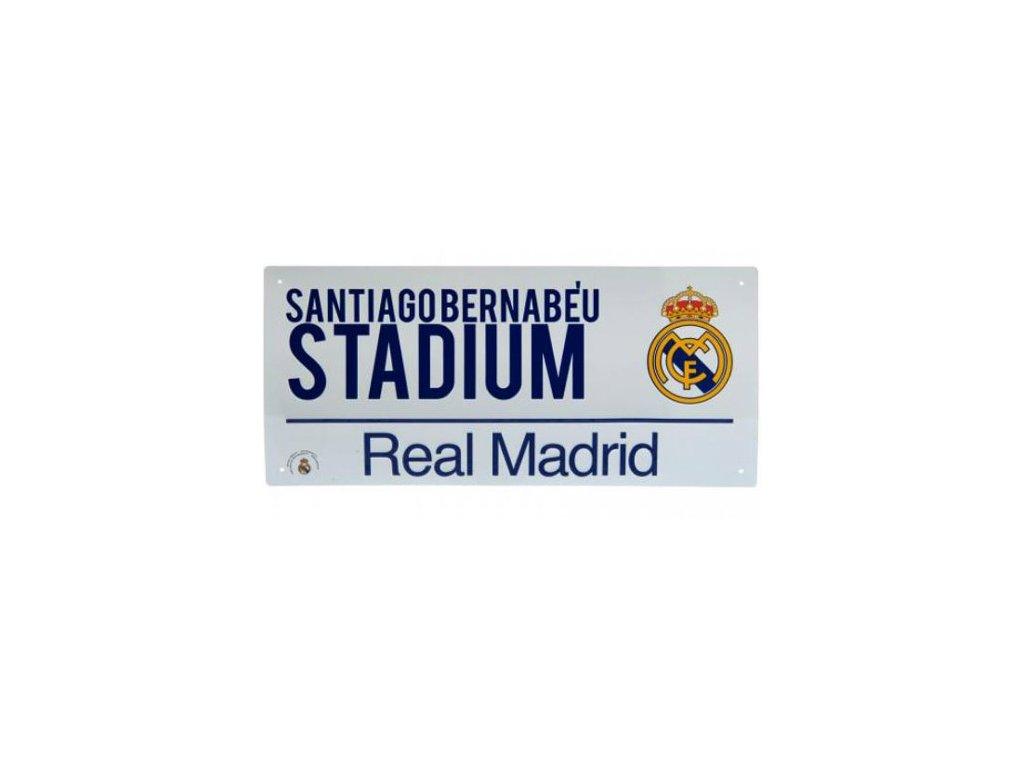 CEDULE NA ZEĎ|REAL MADRID FC  STADIUM|BÍLÁ|40 x 18 cm