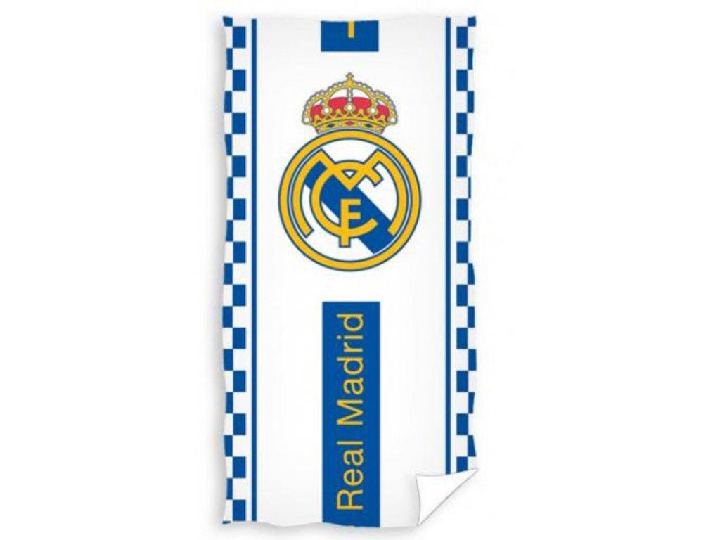 RUČNÍK OSUŠKA|REAL MADRID FC  70 x 140 cm||BÍLÁ|ZNAK