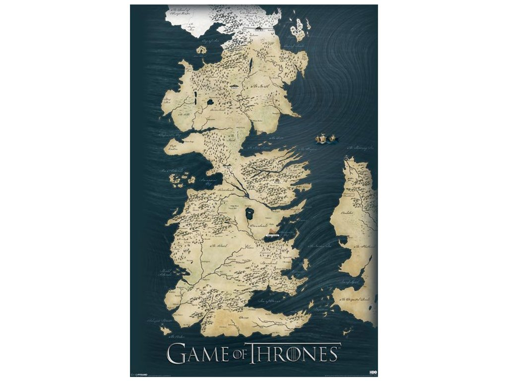 PLAKÁT 61 x 91,5 cm|GAME OF THRONES  MAP