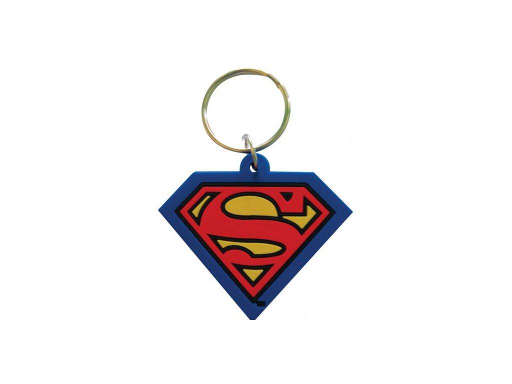 PŘÍVĚSEK NA KLÍČE|PRYŽOVÝ  SUPERMAN|LOGO (DC COMICS)