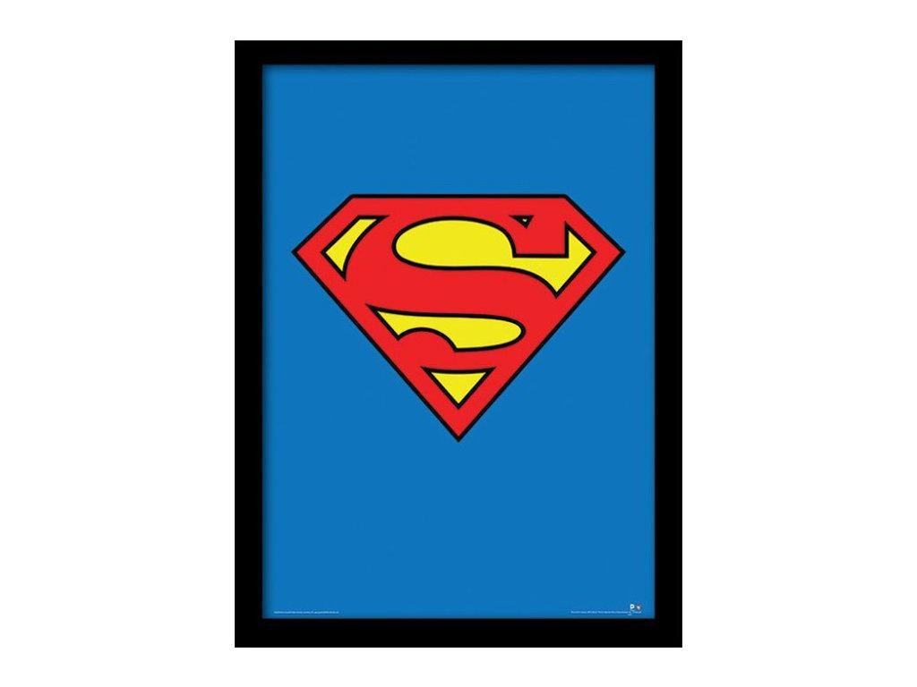 PLAKÁT V RÁMU 30 x 40 cm  DC COMICS|SUPERMAN