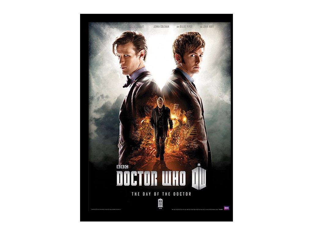 PLAKÁT V RÁMU 30 x 40 cm  DOCTOR WHO|DAY OF THE DOCTOR