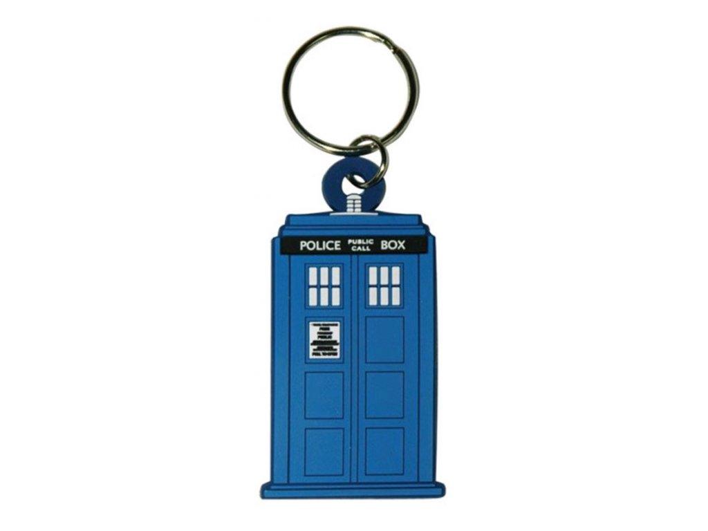 PŘÍVĚSEK NA KLÍČE|PRYŽOVÝ  DOCTOR WHO|TARDIS|5 x 6 cm
