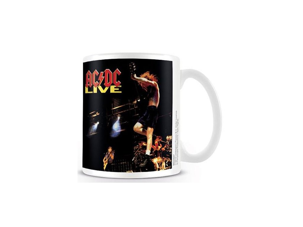 HRNEK KERAMICKÝ|AC/DC  315 ml|LIVE|BÍLÝ