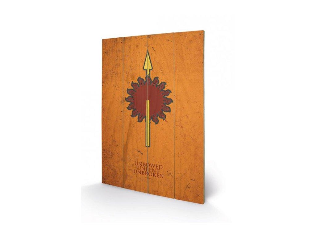 OBRAZ|MALBA NA DŘEVĚ 40 cm x 59 cm  GAME OF THRONES|MARTELL