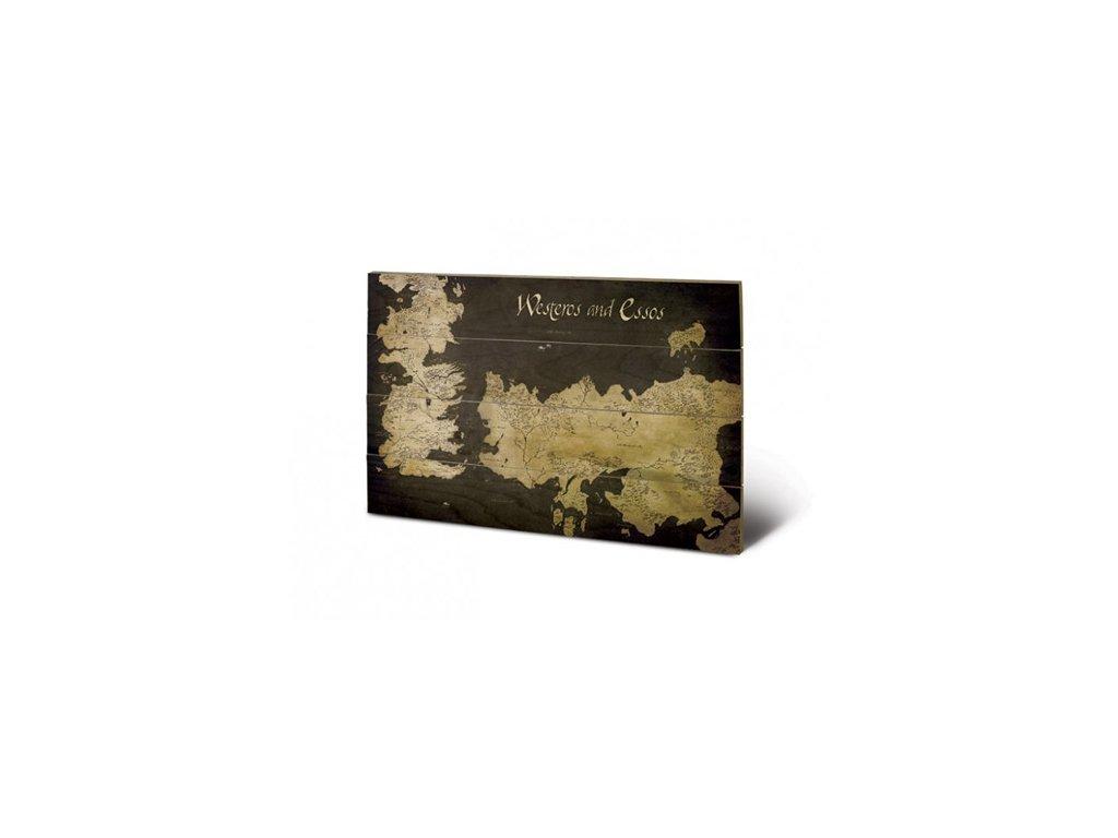 OBRAZ|MALBA NA DŘEVĚ 40 cm x 59 cm  GAME OF THRONES|WESTEROS & ESSOS