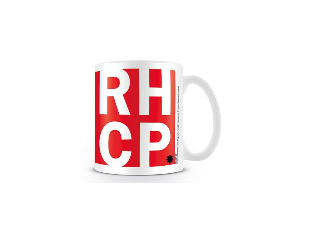 HRNEK KERAMICKÝ|RED HOT CHILI PEPPE  315 ml|RHCP|BÍLÝ