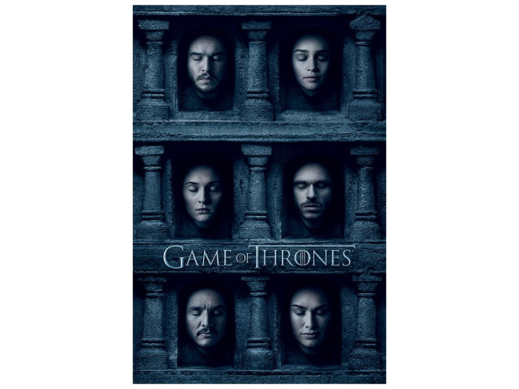 PLAKÁT 61 x 91,5 cm|GAME OF THRONES  HALL OF FACES