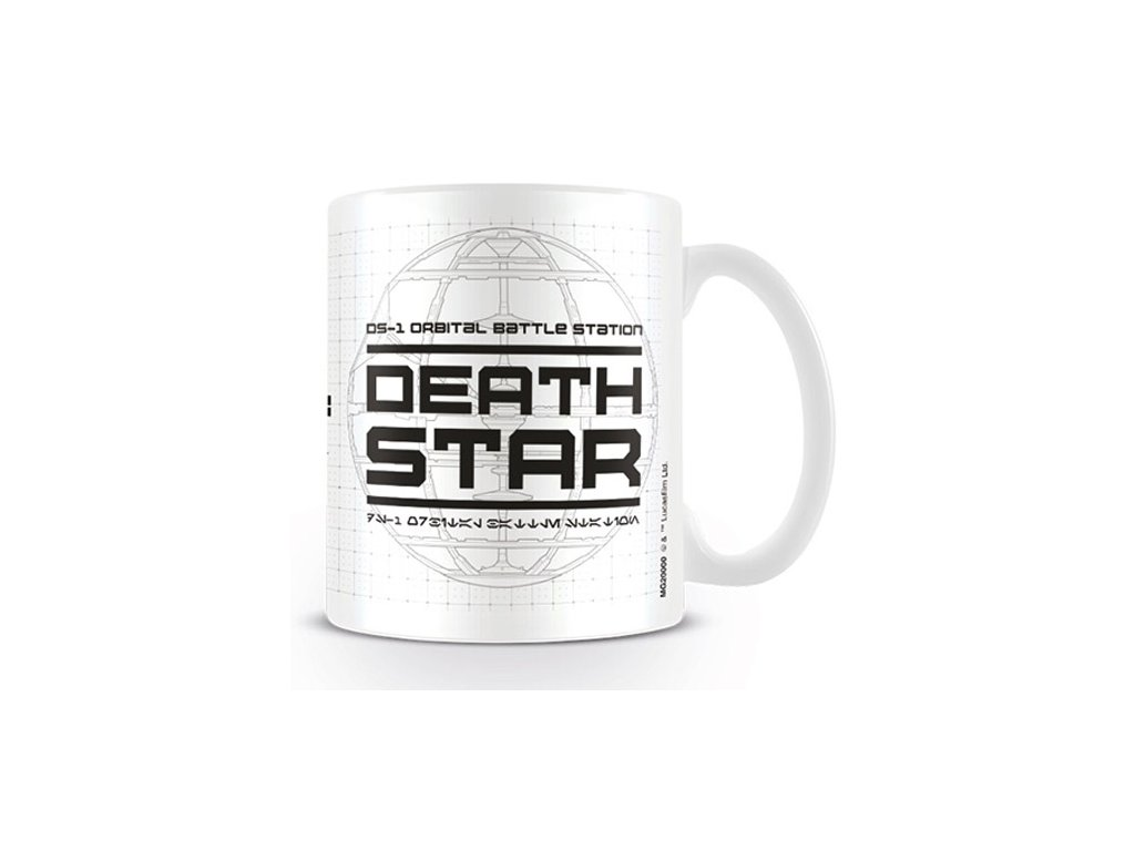 HRNEK KERAMICKÝ|STAR WARS ROGUE ONE  11 oz|315 ml|DEATH STAR|BÍLÝ
