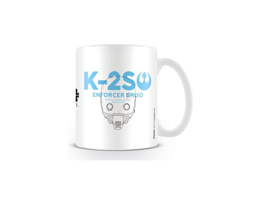 HRNEK KERAMICKÝ|STAR WARS ROGUE ONE  11 oz|315 ml|K-2S0|BÍLÝ