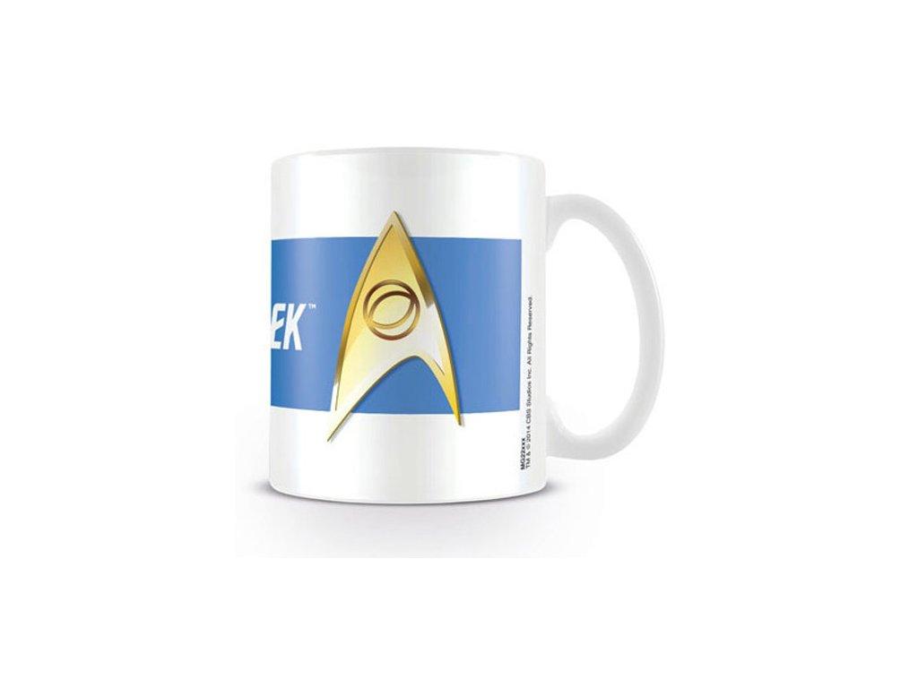 HRNEK KERAMICKÝ|STAR TREK  315 ml|SCIENCES BLUE|BÍLÝ