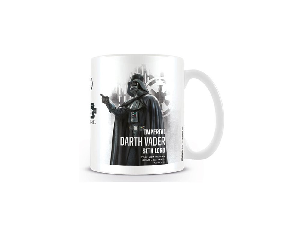 HRNEK KERAMICKÝ|STAR WARS ROGUE ONE  11 oz|315 ml|DARTH VADER|BÍLÝ
