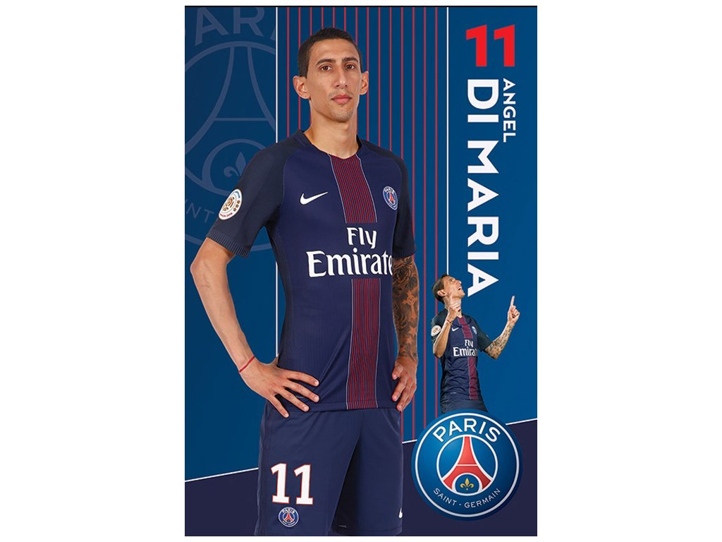 PLAKÁT 61 x 91,5 cm|PARIS SG FC  DI MARIA|2016 - 2017