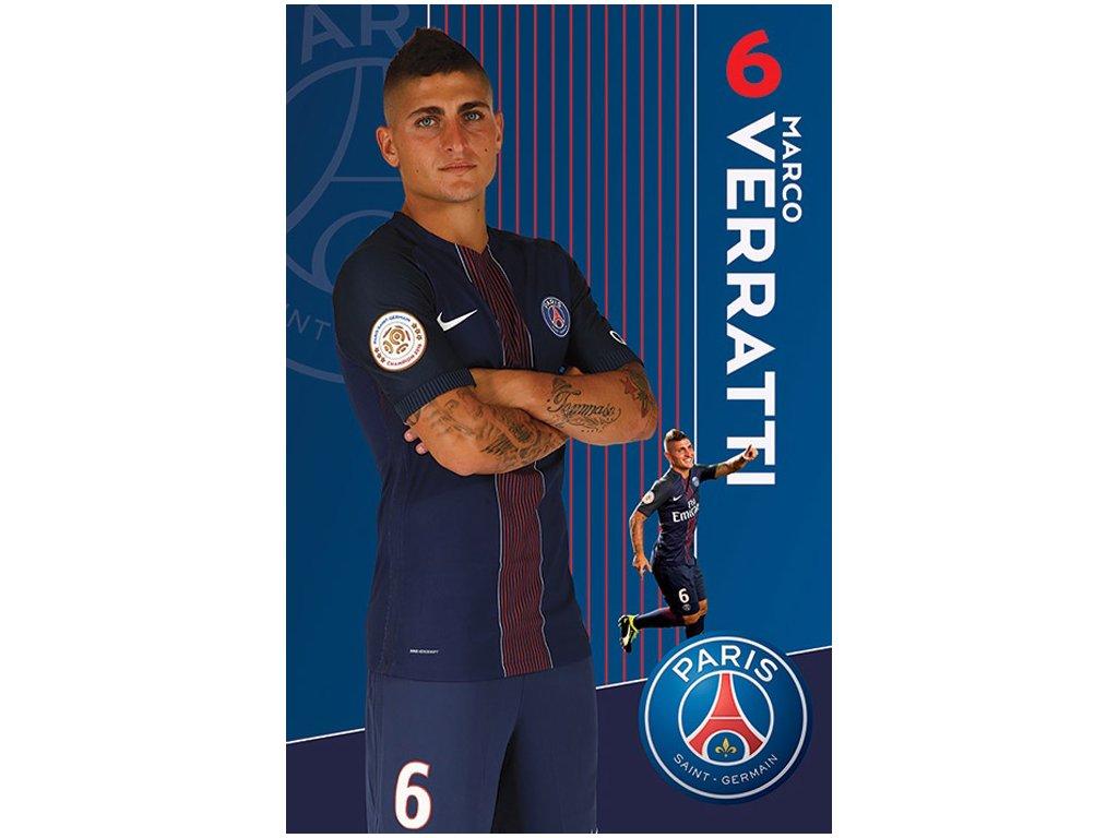 PLAKÁT 61 x 91,5 cm|PARIS SG FC  VERATTI|2016 - 2017