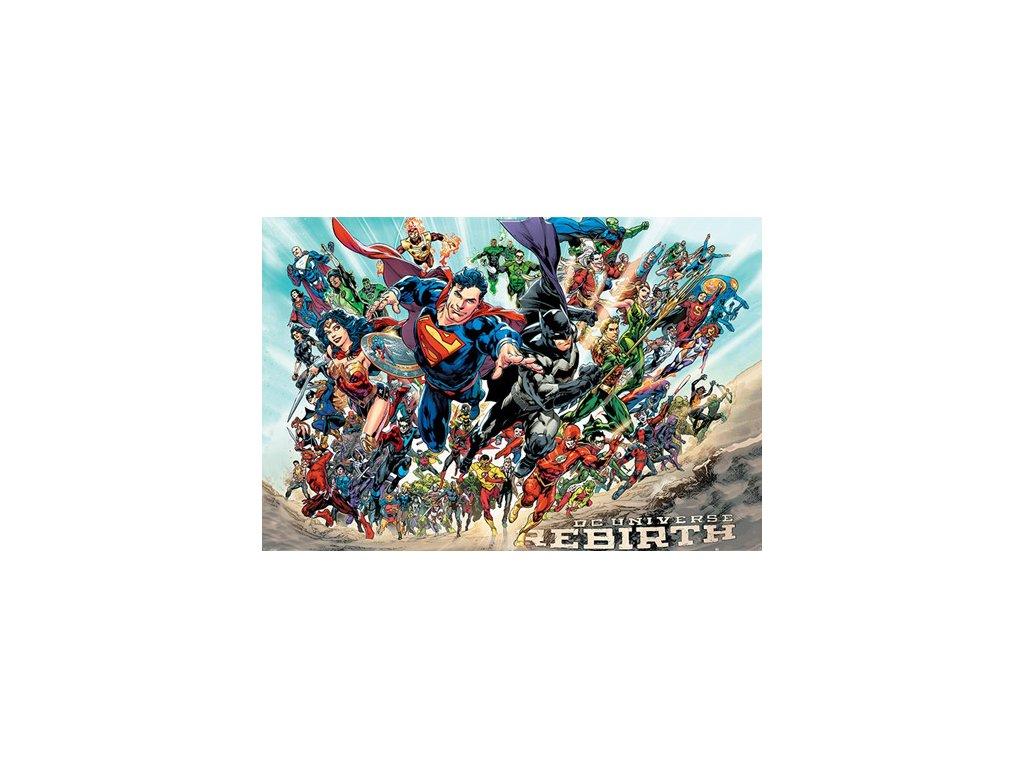PLAKÁT 61 x 91,5 cm|DC COMICS  JUSTICE LEAGUE|REBIRTH|C